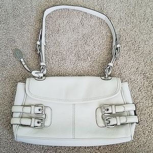 Franco Sarto Cream Color Baguette Handbag